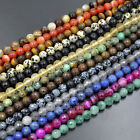 Natural Faceted Gemstone 4mm 6mm 8mm 10mm Round Spacer Beads 15