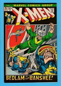 X-MEN # 76 FNVF (7.0) MARVEL 'PICTURE-FRAME' COVER - NICE US CENTS COPY - 1972