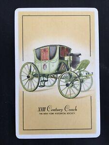 Vintage Swap / Playing Card - Vintage Vehicle - XVIII Century Coach - New York