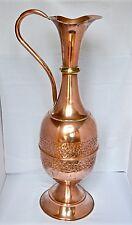 """Giant 26"""" Antique Vintage Copper Jug Pitcher Ewer Urn Stick Stand Floor Size"""