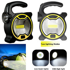 Mini Portable LED COB Floodlight Lantern+Side Torch Outdoor Camping Work Lamp RL