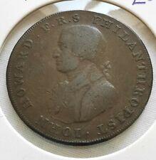 More details for 1794 chichester and portsmouth halfpenny token john howard philanthropist 1/2d