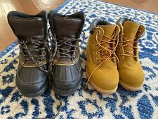 2 Pairs Boys Boots Lot Size 13 Guc Snow Boots Construction Boots