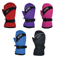 XTM Swoosh Kids Winter Snow Ski Mittens Ass Colours Sizes 2XS-L