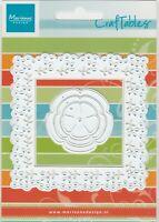 Marianne Craftables Square Frames Die Set/Floral/Flower CR1203