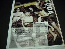 Alanis Morissette and band Taylor Hawkins 19 yr ago 2014 Retro Promo Display Pg.