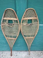 "INTERESTING OLD Snowshoes 37"" Long by 12"" Wide Great for Decoration"
