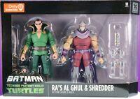 Ra's Al Ghul and Shredder 2 pack TMNT Teenage Mutant Ninja Turtles figures RARE