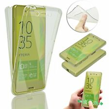 Slim Shockproof 360° Front&Back Full Body TPU Silicon Case Cover For Sony Xperia