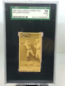 1887 Old Judge Cigarettes N172 Jocko Fields! SGC 10 Poor 1!