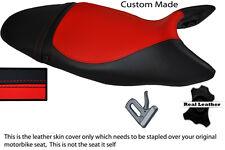 Rojo Y Negro Custom 07-12 encaja Triumph Street Triple 675 Cuero Funda De Asiento