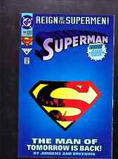 SUPERMAN THE MAN OF STEEL COMIC BOOK 1993  -THE MAN OF TOMORROW IS BACK!  C24