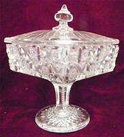 Checkerboard Compote Antique Westmoreland Bridle Rosettes EAPG 1910 AS IS COND