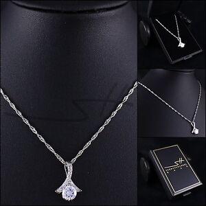 Halskette Zirkonia-Schleife, Kette Damen Weißgold, im Etui, Schmuckhandel Haak®