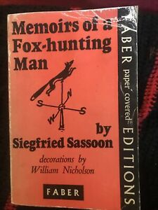 Siegfried Sassoon memoirs of a fox hunting man paperback Collectable book