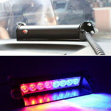Red/Blue 8LED Car Dash Strobe Flash Light Emergency  Police  Warning  3 Modes