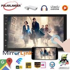 7''2 Din Car Radio+Dongle Wifi Airplay Siri BT GPS Navi Mirror Link For Iphone