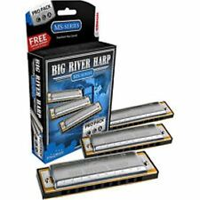HOHNER Big River Harmonica, PRP-PACK, 3 Key Set: G-A-C, Includes Case, 3P590