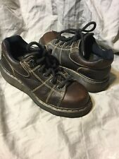 DOC MARTIN DR MARTENS Lace shoe Dark Brown Leather 9806 Men's 8 Boot Low