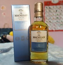 Rare Macallan 12 fine oak whisky  minibottle, mininature, mignon