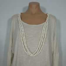 FOREVER 21 Women's /Juniors Beige Dolman Top with Necklase size S