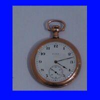 Fabulous WW1 14k Gold Elgin 17 Jewel RR  Pocket Watch 1914