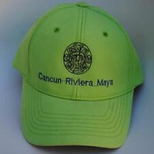 Cancun Riviera Maya Adjustable Bright Green Baseball Cap Hat