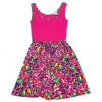 Lilly Pulitzer Women's Megyn Fit & Flare Dress Wild Confetti Pink • SMALL