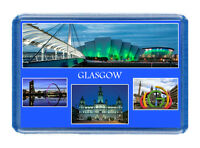Glasgow Fridge Magnet - Large Size (7cm x 4.5cm) - Great Gift Idea - Tourism