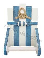 Dérouleur WC poisson et noeud marin, accessoire toilettes style marine NEUF