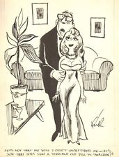 Cheating Husband w/ Babe Gag - Humorama - 1964  art by Kirk Stiles