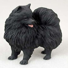 Pomeranian Figurine Hand Painted Collectible Statue Black