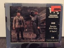 VERLINDEN Productions Reporting Africa Korps 2 Figures 1:35 Scale Item #1410