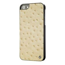 Coque Extra Fine Pour iPhone 5 / 5S / SE Cuir Veritable Ostrich Tan