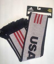 Adidas Soccer USA National Team 3 Stripe Home Scarf White Red Blue New