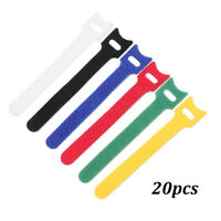 Reusable Earphone Mouse Cable Organizer Nylon Strap Cord Tie Wire Management