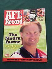 Vintage VFL/AFL 1999 Round 5 Football Record Hawthorn V West Coast Eagles