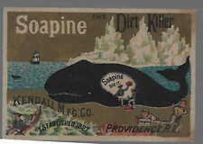 Soapine-The Dirt Killer, Whale, Glaciers,Tall Ship,Sailors, Thieves, Beach.