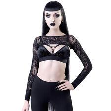 Killstar Gothic Goth Okkult Spitze Mesh Netz Bolero - Eris Crop Top Pentagramm