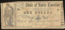 1861 $1 ONE DOLLAR BILL NORTH CAROLINA NOTE CURRENCY OLD PAPER MONEY