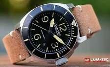 Lum-Tec Watch - M88 Sunburst Pattern Sandwich Dial w/ Two Straps