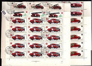 # 30X RUSSIA 1985 - CTO - FIRE TRUCK - SHEETS BENT