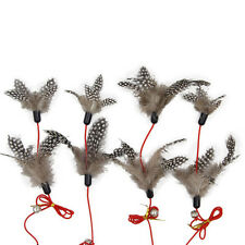 New Steel Wire Kitten Cat Toy Feather Rod Teaser Bell Play Pet Dangler mur 、 Pop