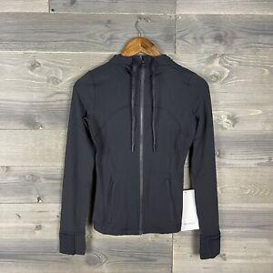 NWT Lululemon Womens Black Hooded Define Jacket *Nulu Sz 6