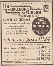 Z9263 Meubles Aux Petits Agneaux -  Pubblicità d'epoca - 1932 Old advertising