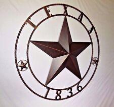 "40"" TEXAS 1836 LONE STAR BARN STAR METAL ART WESTERN HOME DECOR RUSTIC COPPER"
