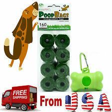 Top Rated EcoJeannie Biodegradable Dog Poopbags 160 Bags(20X8 Rolls)+1 Dispenser