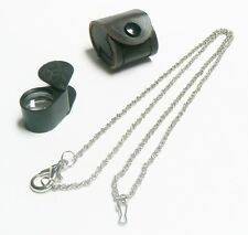 Loupe Jewelers Loupes 10X Triplet 18mm Black Loupe + Leather Case & Free Chain