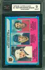 1979 80 OPC #3 TROTTIER/DIONNE/LAFLEUR LEAGUE LEADERS KSA 9 MINT