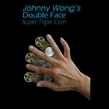 Double Face Super Triple Coin (Coins & DVD) Johnny Wong Magic Trick Close up T11